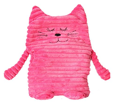 Inware 8789 - Wärmetier Katze, pink, 17 x 26 cm, Wärmekissen