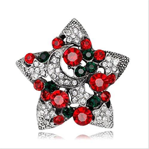Haotfire Christmas Brooch Set Women Crystal Rhinestone Brooch Pin Jewelry, The Best Gift (Snowmans Best Friend Rhinestone)