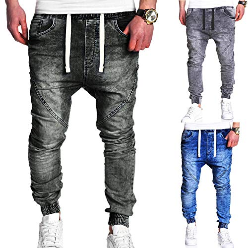 Elastic Jeans Zip Sottile Moto Casual Wear Uomo Hip Fit Nero Slim Denim Street Jeans Moda Denim Wash Hop Biker Afflitto Pantaloni Vintage qBtvvzg