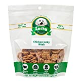 Lucky Premium Treats All Natural Farm Fresh Chicken Jerky Bites For Dogs, 12oz Bag – By