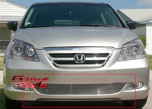 [APS H67120A Polished Aluminum Billet Grille Bolt Over for select Honda Odyssey Models] (Odyssey Billet)