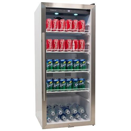 EdgeStar VBR240 8.6 Cu. Ft. Commercial Beverage Merchandiser - White and Stainless Steel by EdgeStar