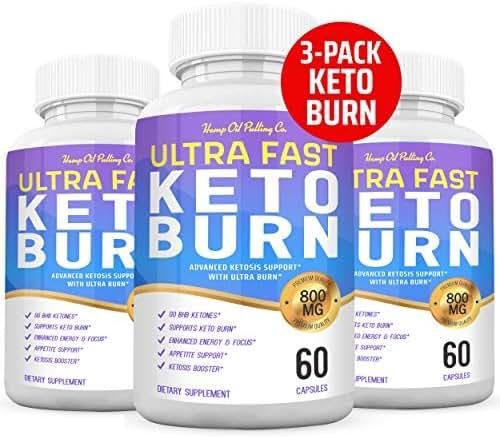 (3-Pack) Ultra Fast Keto Burn Boost Pills - Premium Keto Burn 800mg Exogenous Ketones Ketosis BHB Ketogenic Supplement for Men Women - 180 Ct