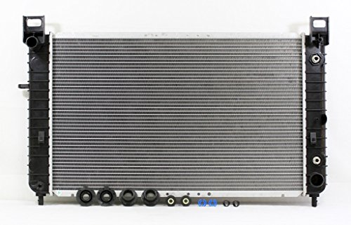 Pickup Truck Car Radiator (Radiator - Pacific Best Inc For/Fit 2334 Chevrolet Silverado GMC Sierra Pickup V8 4.8 / 5.3 WITHOUT REAR A/C)