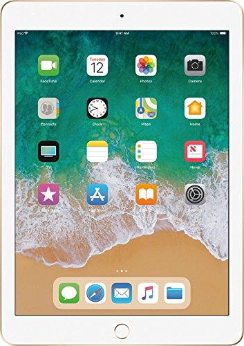 2017 Model Apple iPad 9.7-Inch Retina Display, 128GB, WIFI, Bluetooth, Touch ID, Apple Pay, Siri, FaceTime HD Camera, Gold