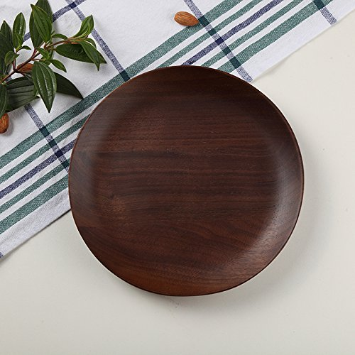 Round Wood Plates Japanese Cake Tray Wooden Tableware Household Kitchen Utensils Dessert Dishes Serving Plates ()