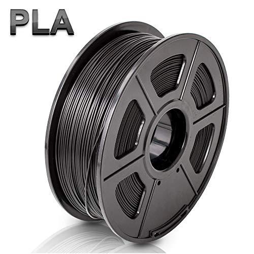 Black TECHNOLOGYOUTLET PREMIUM 3D PRINTER FILAMENT 1.75MM FLEXIBLE