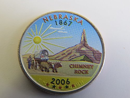 2006 Various Mint Marks Nebraska State Colorized Quarter Choice Uncirculated