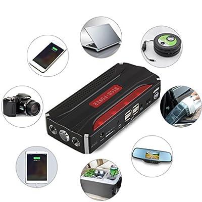 Simoner 12V Car Jump Starter, 68800mAH Multifunctional 4 USB Portable Power Bank for Emergency Start Chargable Battery