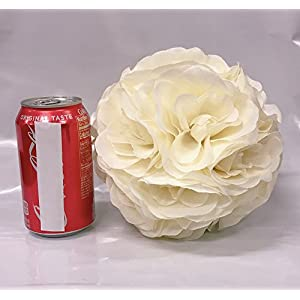Ben Collection Fabric Artificial Flowers Silk Rose Pomander Wedding Party Home Decoration Kissing Ball Trendy Color Simulation Flower 3