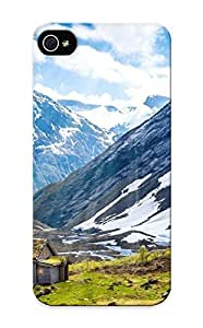 235d8756052 Tough Iphone 5/5s Case Cover/ Case For Iphone 5/5s(house Plain Norway Snow Mountains ) / New Year's Day's Gift
