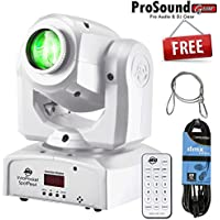 American DJ INNO POCKET SPOT PEARL Mini Moving Head 12-Watt LED with Free DMX 25ft Cable and Remote Control (ProSoundGear) Authorized Dealer