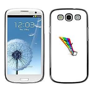 Samsung Galaxy S3 - Metal de aluminio y de plástico duro Caja del teléfono - Negro - Doing Internet - Funny Wtf Lol