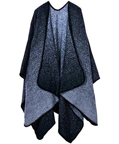 Stola Schwarz Capa Outerwear Donna Mode BOLAWOO Outwear Libero Poncho Autunno Invernali Marca Tempo Tendenza Eleganti di Ragazze aqXa6T1wYx