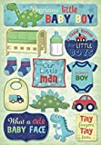 Karen Foster Design Acid and Lignin Free Scrapbooking Sticker Sheet, Momma's Boy