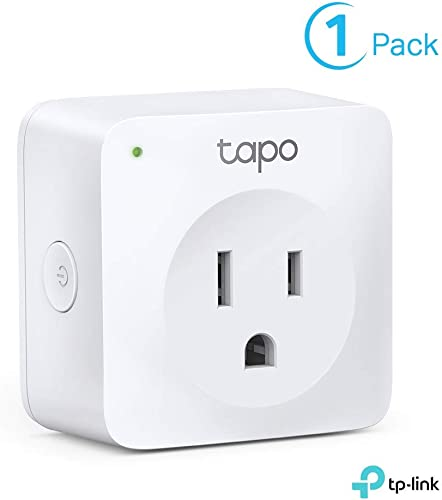 TP-Link Tapo Smart Plug Mini, Smart Home Wifi Outlet Works with Alexa Echo Google Home, No Hub Required, Remote Control Your Home Appliances from Anywhere, New Tapo APP Needed P100