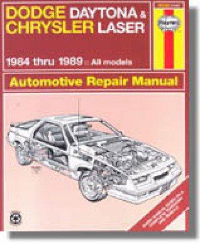 Chrysler Laser Manual - H30030 Haynes Daytona Chrysler Laser 1984-1989 Auto Repair Manual