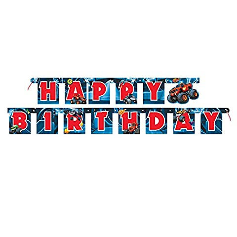 6ft Blaze and the Monster Machines Birthday Banner - Party Machine
