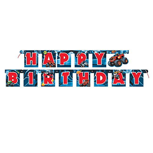6ft Blaze and the Monster Machines Birthday Banner