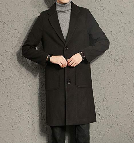 Los Hombres De Los Cierre Fit Regular Hombres Modernas Casual De Cremallera Front Stand Collar Los Hombres De Largo Ntel Moda Leisure Coat De Los Hombres (Color : Schwarz 2, Size : SG)