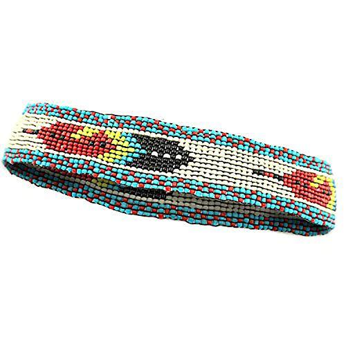 Seed Bead Feather Design Handmade Headband