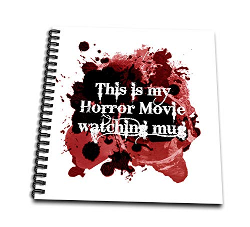 3dRose InspirationzStore - Occasions - This is my Horror Movie watching mug - for scary halloween film fans - Drawing Book 8 x 8 inch (db_317314_1)]()
