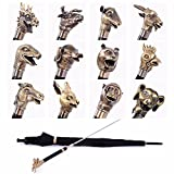 SSBY Long-stem umbrellas 12 Zodiac bronze creative personality straight umbrella umbrella man defensive umbrella,Dragon