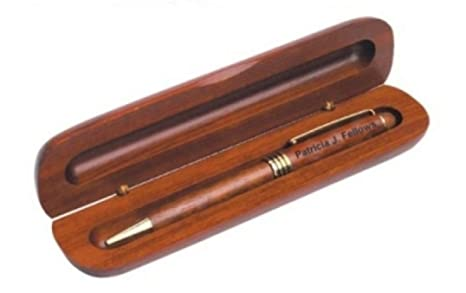 Amazon.com: Grabado Rosewood – Bolígrafo en caja de regalo ...