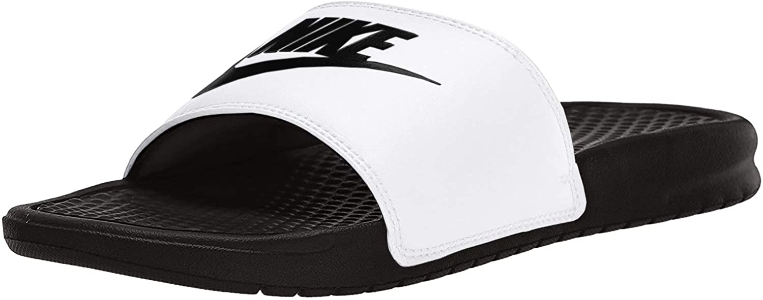 Nike Benassi Jdi, Chanclas Unisex Adulto, Multicolor (White/Black/Black), 44 EU