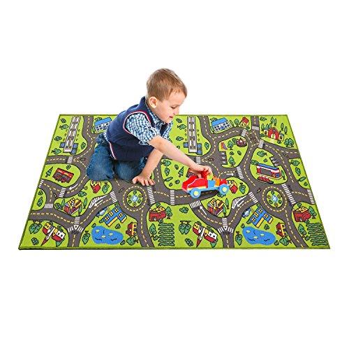 """Extra Large 79"""" X 40""""! Kids Carpet Playmat Rug City Life"""
