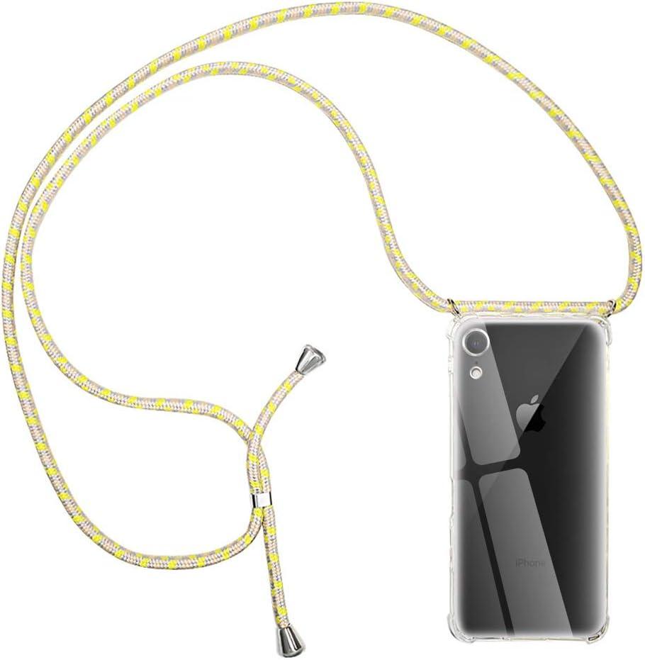 Verde Suave TPU Case con Cuerda para Colgar Ajustable Anti Golpes Protector Case Transparente Silicona Carcasa con Cuerda para Apple iPhone 11 RosyHeart-EU Funda para iPhone 11