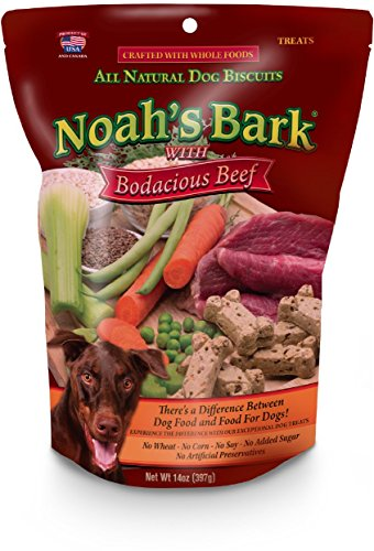 Noah's Bark Bodacious Beef 12oz- All Natural , Made in USA Dog Treat, Grain Free, Soy Free, NO Artificial Flavors or Dyes (Flavor Dye)
