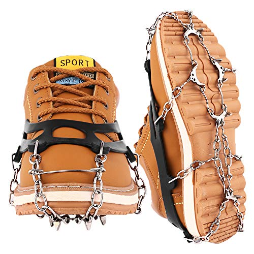 Cutiful Traction Cleats Crampons Ice Grips Boots Spikes Men Women Shoes Spikes Walking Camping Winter Snow Hiking Spikes (Ice Shoes Grippers)