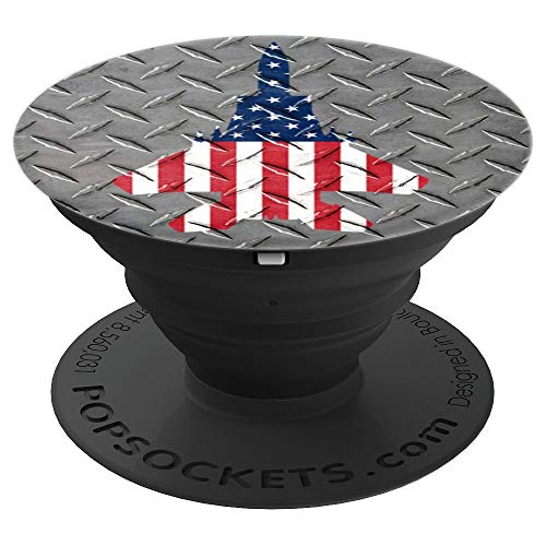 (F15 Eagle US Fighter Airplane Jet Plane Aircraft Steel - PopSockets Grip and Stand for Phones and Tablets)