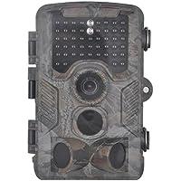 XIKEZAN 1080P HD Trail & Game Camera,12MP Mini Night Vision Wildlife Camera with Time Lapse & 2.4 LCD Screen (No Glow)