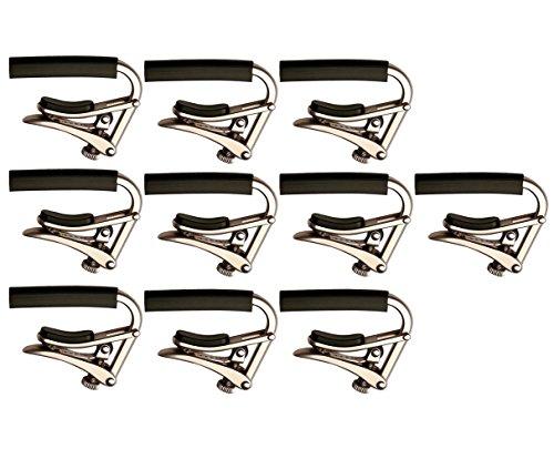 Shubb C1N Brushed Nickel Capo Steel String Guitar Capo 10-Pack by Shubb