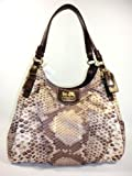 Coach Madison Python Print Maggie Hobo Handbag, Bags Central