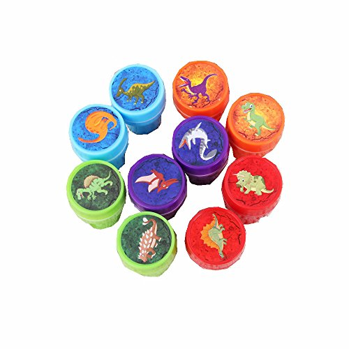 10 pcs Kids Scrapbooking Stamp Cartoon Rubber Stamps for Scrapbooking Stamps for DIY Scrapbook Photo Album (Dinosaur ()
