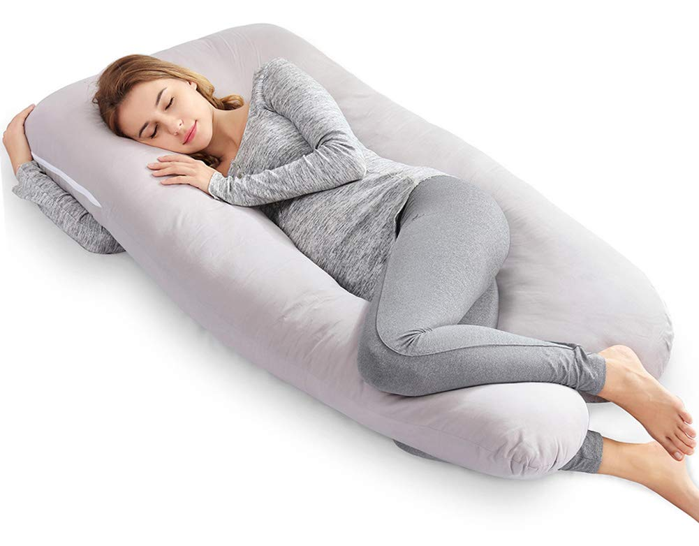 Comfy Pregnancy Body Pillow Maternity Back Belly Neck Support Pillow Purple