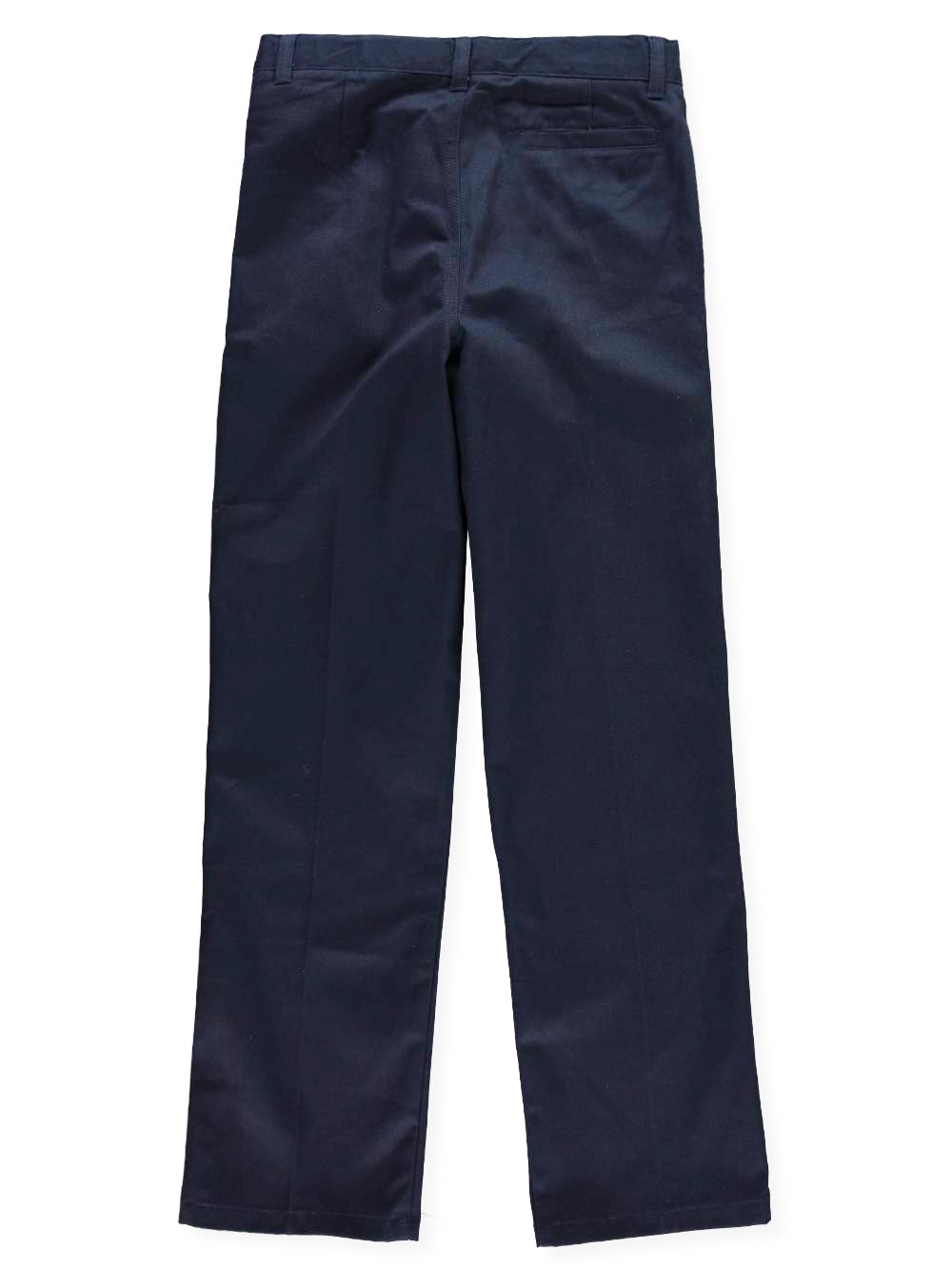 French Toast Big Boys' Pleated Wrinkle No More Double Knee Pants - navy, 20