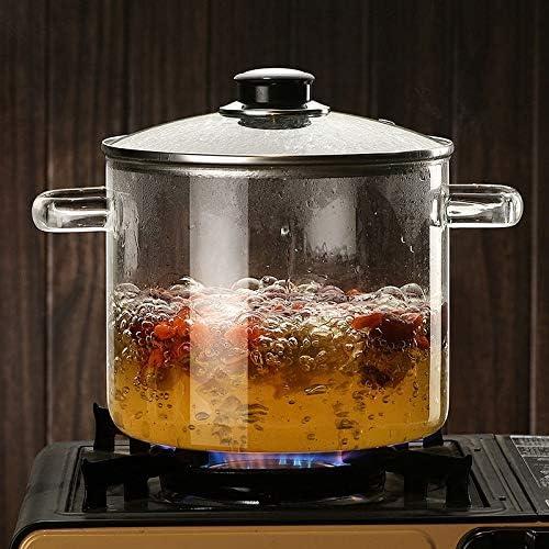 YWSZJ Haute température verre Casserole bol en verre soupe Pot Petit déjeuner Lait Pot nouilles instantanées Pan Batterie de cuisine