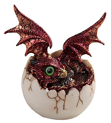 George S. Chen Corp Red Baby Dragon Hatching from an Egg Medieval Fantasy Figurine Hatchling New