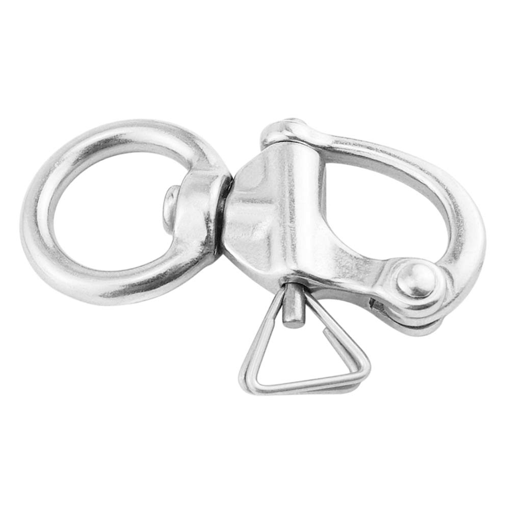 65mm 2.56 inch Almencla Swivel Eye Snap Shackle Anchor Rigging 316 Stainless Steel Quick Release Bail for Marine//Boat//Sailing//Yacht