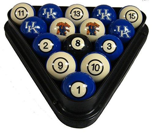 wave NCAA Kentucky Wildcats Numbered Pool Balls Set - College Football Billiards -
