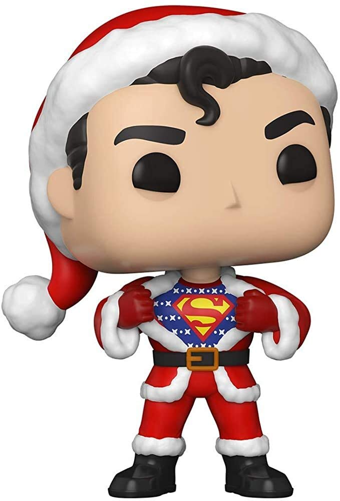 Funko Pop! DC Heroes: DC Holiday - Superman with Sweater, Multicolor, 3.75 inches (50651)