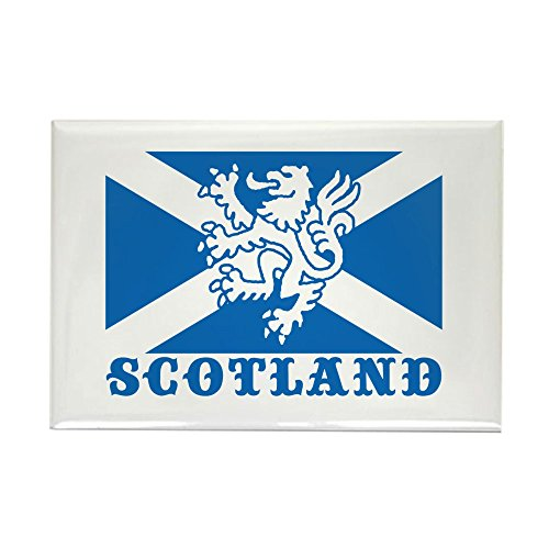CafePress Flag Of Scotland With Lion Rectangle Magnet, 2