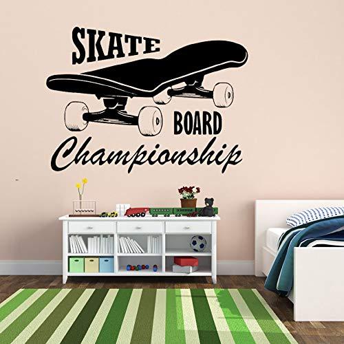 tzxdbh Skate Cartas Y Patrón Pegatinas de Pared para los ...
