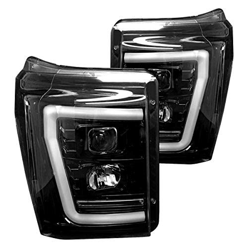 RECON 264272BKC Ford Superduty For 11-16 F250/F350/F450/F550 PROJECTOR HEADLIGHTS