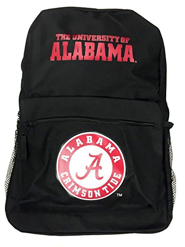 Concept One NCAA Officially Licensed Sprint Black Backpack (Alabama Crimson Tide)