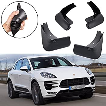 SPEEDLONG 4Pcs Car Mud Flaps Splash Guard Fender Mudguard for Porsche Macan 2015 2016 2017 2018